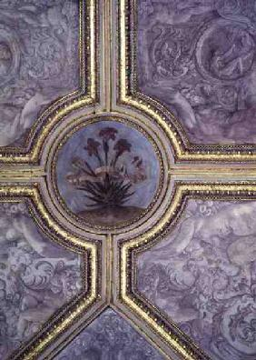 Floral ceiling decoration, from the 'Camerino'