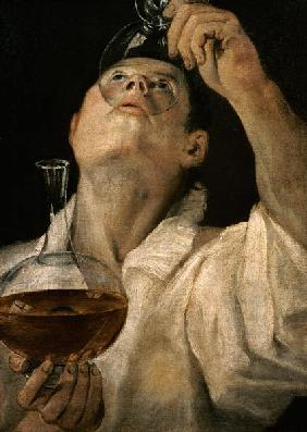 Portrait of a Man Drinking