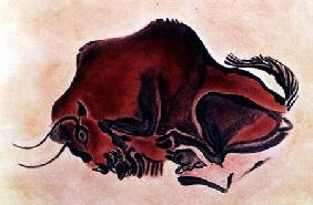 Rock painting of a bisonlate Magdalenian