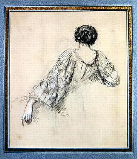 Back of a Young Woman (study for ''La Malaria'')