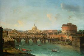 Joli, Antonio : View of Rome with the Tibe...