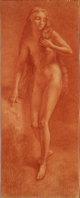 Female Nude (red chalk)