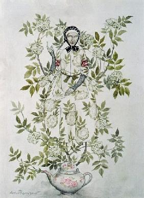 In the Midst of a Tree sat a Kindly-Looking Old Woman'', illustration to ''Elder Tree Mother'' from
