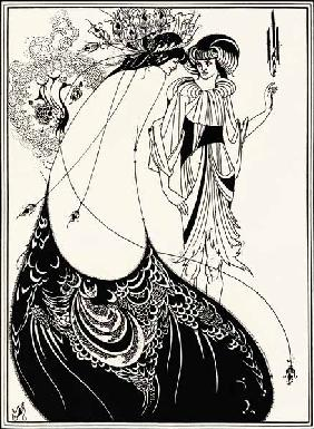 Beardsley, Aubrey Vincent : The peacock skirt