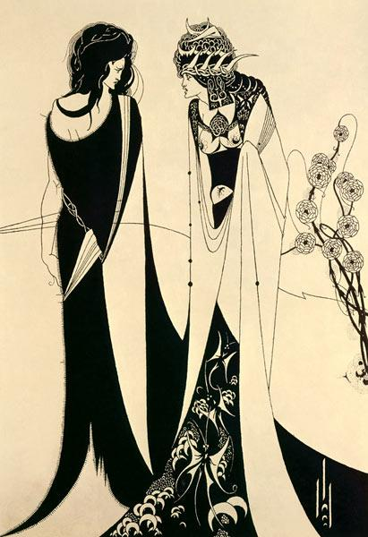 Beardsley, Aubrey Vincent : Herodias and Salom�.