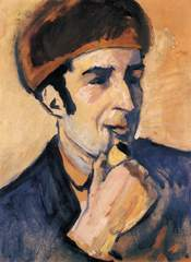 Portrait of Franz Marc made by August Macke