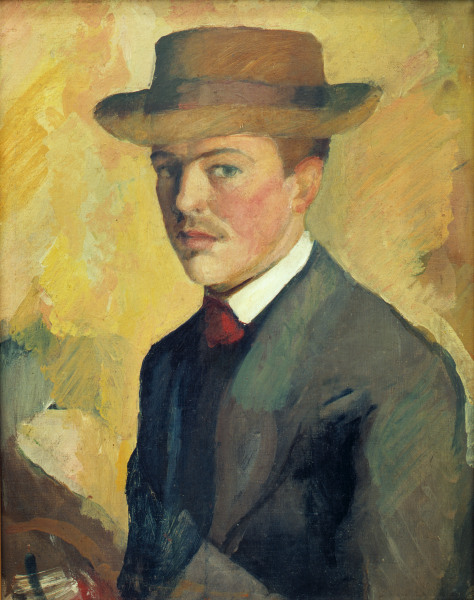 Self portrait of August Macke