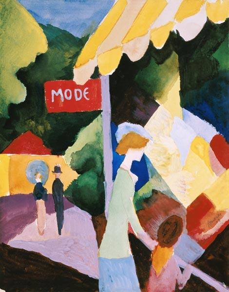 Macke, August : Fashion window