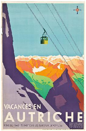 Poster advertising vacations in Austria,