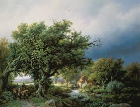 Koekkoek, Barend Cornelisz. : Landscape with a Mill