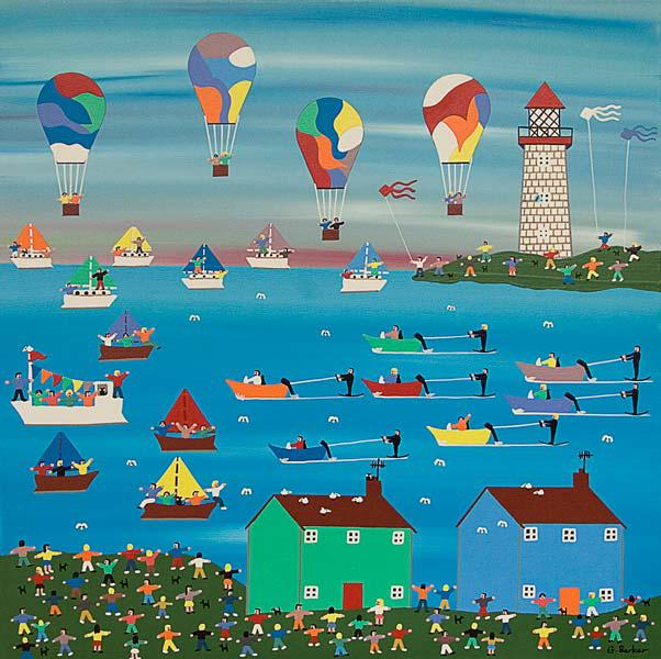 Ballons at the seaside