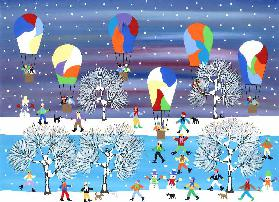 Balloons in the snow