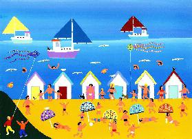 Day at the beach huts