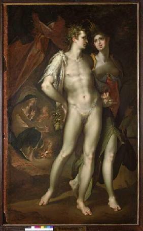Bacchus and Ceres leave Venus. um 1590