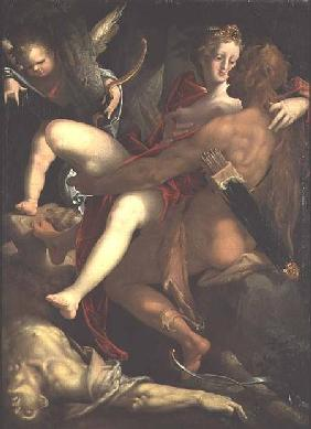 Hercules, Deianeira and the centaur Nessus