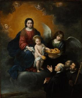 The Infant Christ Distributing Bread to the Pilgrims