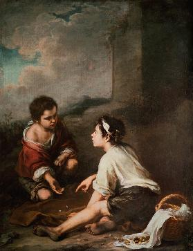 B.E.Murillo, Children Playing Dice /Ptg.