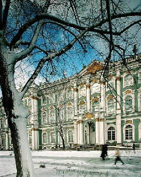 View of the South Facade of the Winter Palace, from Palace Square