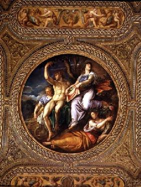 Agriculture, Pomona, Ceres and Neptune, from the ceiling of the library