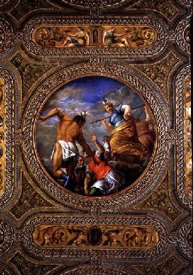 Diana and Actaeon, from the ceiling of the library
