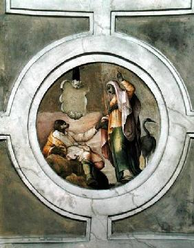 Representation of one of the Virtues, from the ceiling of the Grimani Chapel