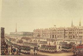 View of the Parade and Imperial Palace of St.Petersburg