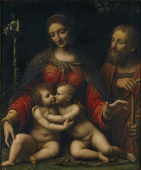 Luini, Bernardino : The Holy Family with John ...