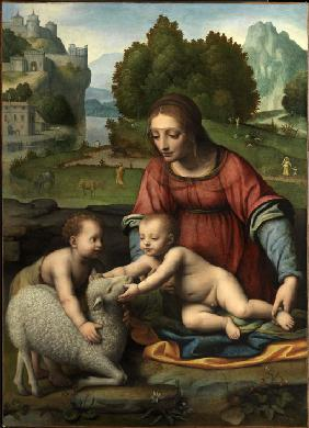 Luini, Bernardino : The Virgin and Child with ...