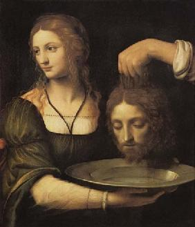 Salome receives the head of Johannes of the T�ufers.