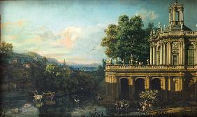 Architectural Capriccio with a Palace