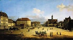 The market place in the new town of Dresden