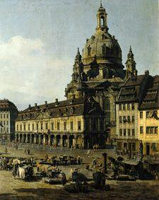 The new market in Dresden of Moritz -- Strasse out (part)