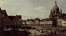 The Neumarkt in Dresden, View from Moritzstrße