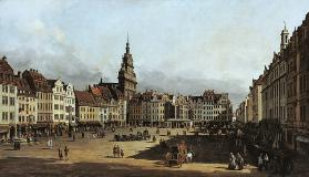The alto market in Dresden from the lock lane.