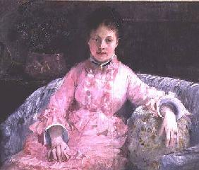 Portrait of a Woman in a pink dress