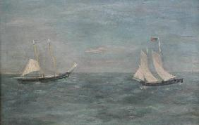 Marblehead Fishing Schooners on the Grand Bank