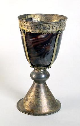Chalice with jewels and an...