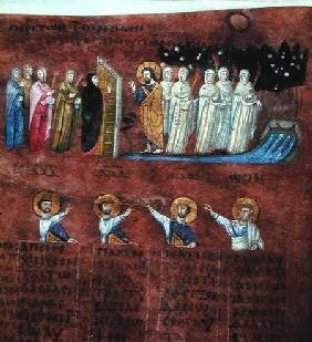 Ms EAB 644 The Wise and Foolish Virgins, from the 'Codex Purpureus'