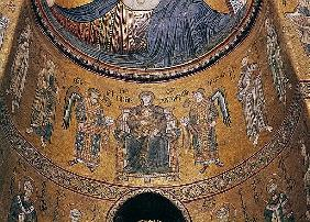 Madonna and Child Enthroned with Angels and Apostles, from the central apse