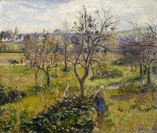 Landscape With Kitchen Garden At Eragny Camille Pissarro As Art Print Or Hand Painted Oil