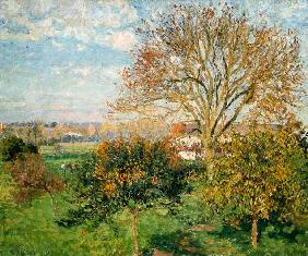 Autumn morning in Eragny. 1897