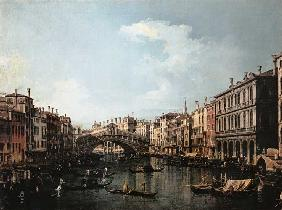 Canal (Canaletto), Giovanni Antonio : The Rialtobr�cke of the so...