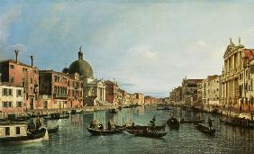 Grand Canal: looking South west from The Chiesa degli Scalzi to The Fondamenta della Crose
