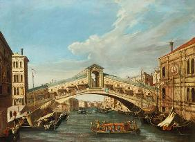 Canal (Canaletto), Giovanni Antonio : The Rialto Bridge, Venice