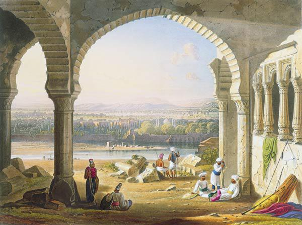 Aurungabad from the Ruins of Aurungzebe's Palace, from Volume II of 'Scenery, Costumes and Architect