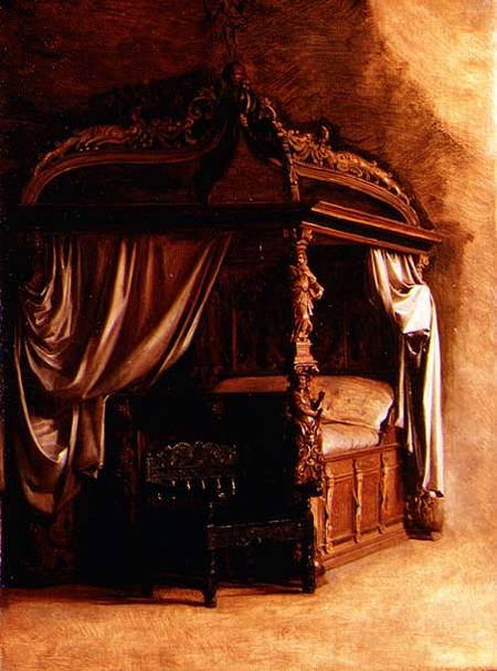 The Royal Bed of King Christian IV of De - Carl Bloch as art print ...