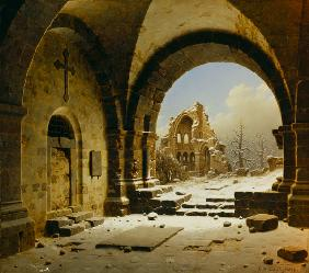 Cloister Ruins in Winter