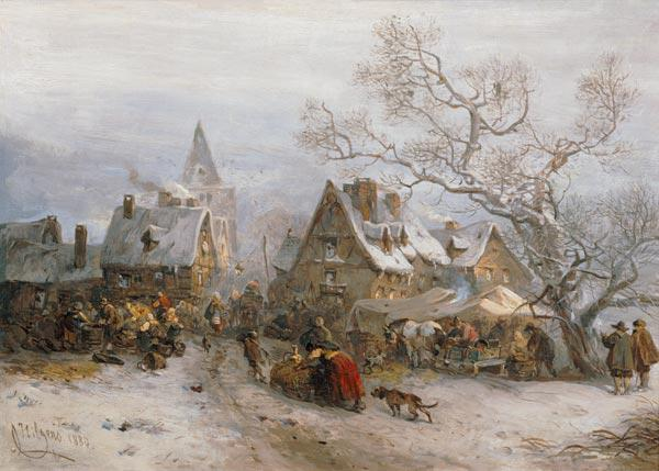 Market day in winter