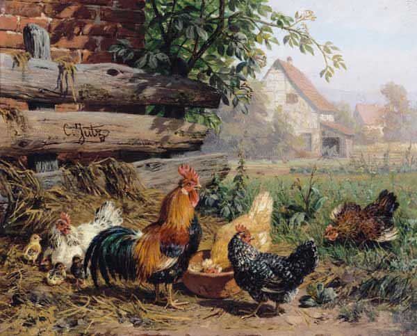 Jutz, Carl : Farmyard Chickens