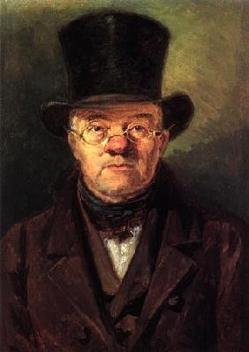 Man with top-hat hat